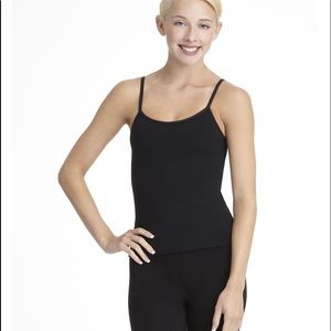 Black camisole top with adjustable straps